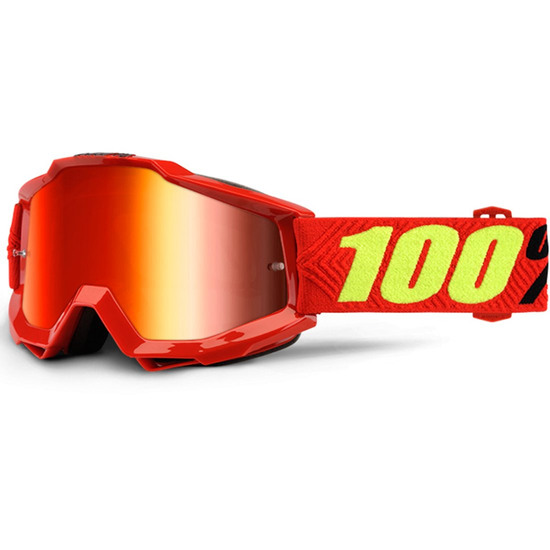 100% Accuri Saarinen Mirror Red Goggles