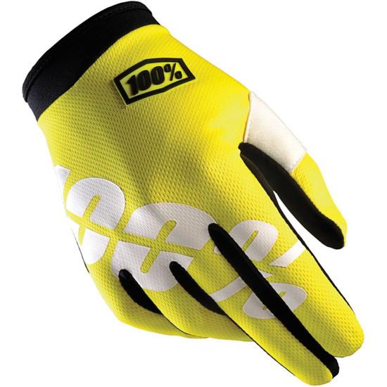Luvas 100% iTrack 2018 Neon Yellow