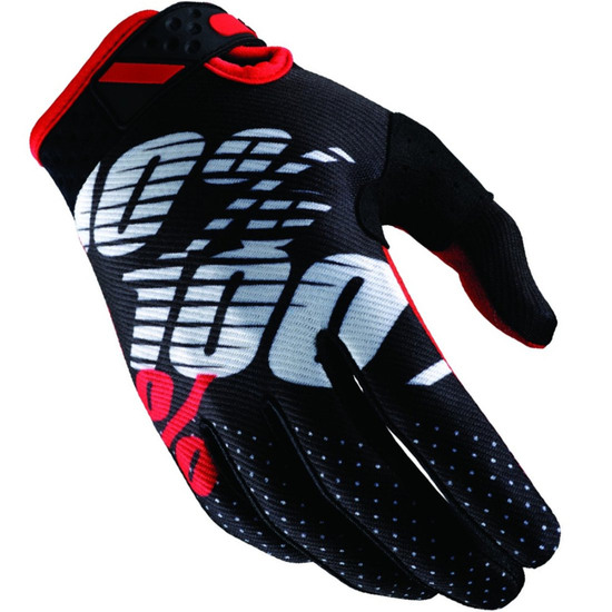 Gants 100% Ridefit 2018 Black / Red