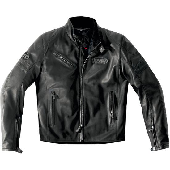 SPIDI Ace Leather Black Jacket