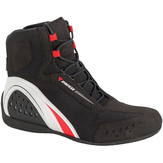 DAINESE Motorshoe D-WP JB Black / White / Red Boots