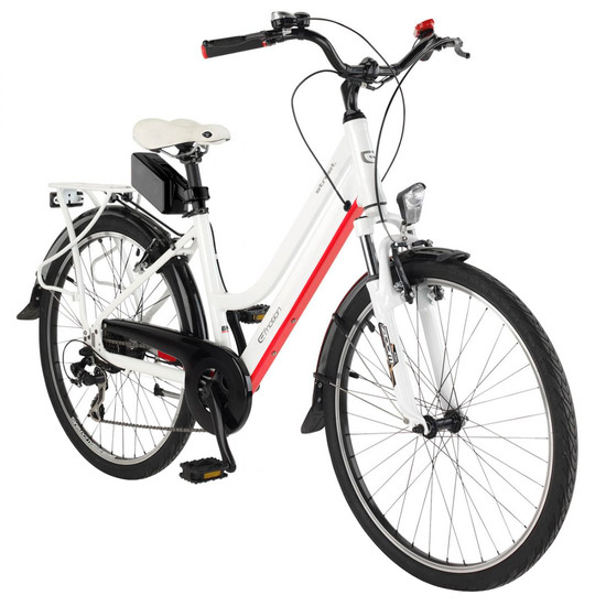 "Vélo Urbain/Ville BH EasyGo Street 26"" 2017 White / Red / Black"