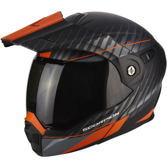 Casco SCORPION ADX-1 Dual Matt Black / Orange