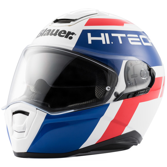 Casco BLAUER Force One 800 White / Blue / Red