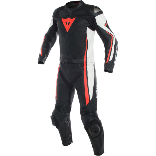 DAINESE Assen Black / White / Red Fluo Suit