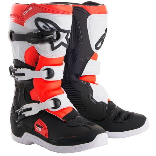 Stivale ALPINESTARS Tech 3S Junior Black / White / Red Fluo