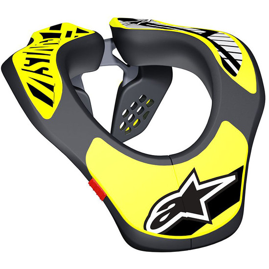 Protezione ALPINESTARS Neck Support Junior Black / Yellow Fluo