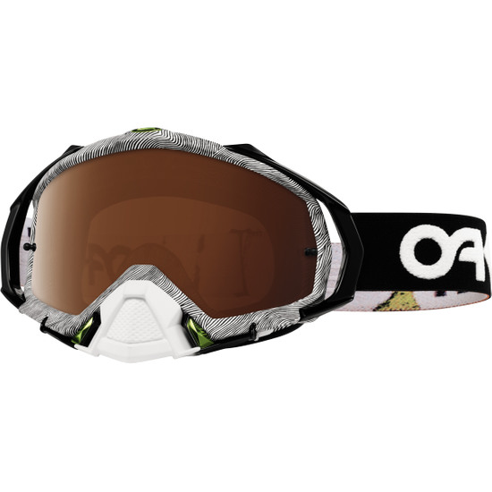 Lunettes OAKLEY Mayhem Pro MX Factory Pilot Thumbprint Black / White / Black Iridium