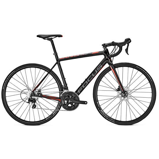 FOCUS Cayo Disc 2017 Carbon / Red / Grey Road bike