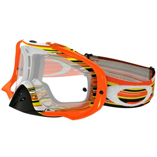OAKLEY Crowbar MX Glitch Orange / Yellow Clear Mask / Goggle