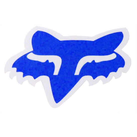 "Aufkleber FOX Head 4"" Blue"