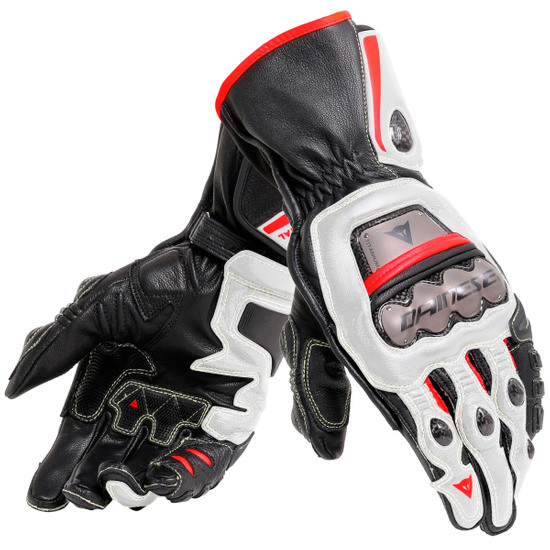 Guantes DAINESE Full Metal 6 Black / White / Lava-Red