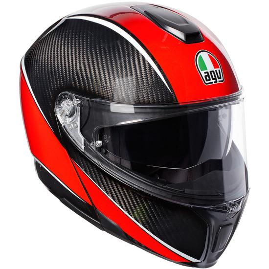 Casco AGV Sportmodular Aero Carbon-Red