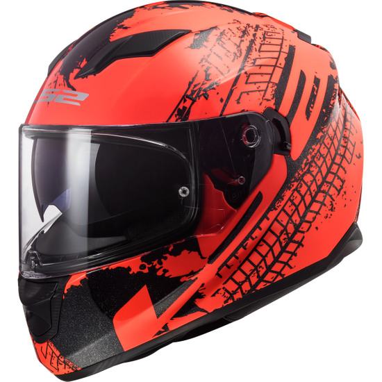 Casco LS2 FF320 Stream Evo Lava Fluo Orange / Black