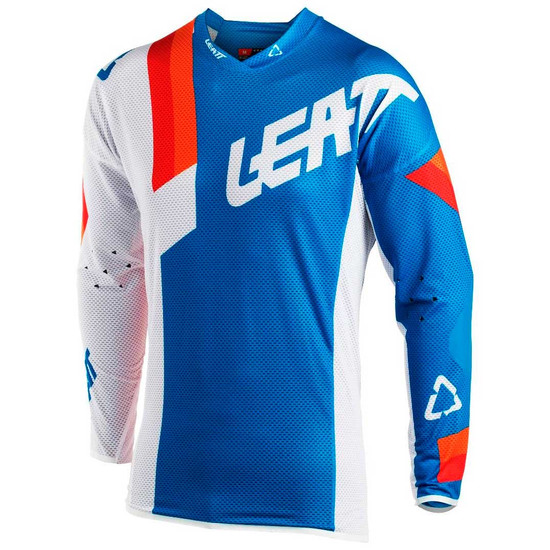 Camiseta LEATT GPX 5.5 Ultraweld 2018 Blue / White