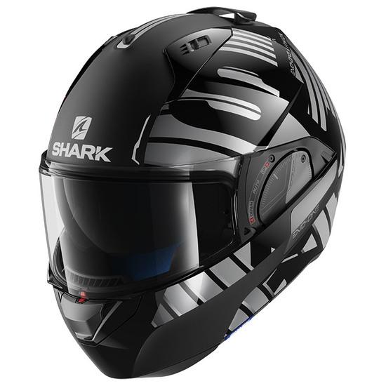 Casco SHARK Evo-One 2 Lithion Dual Black / Chrom / Anthracite