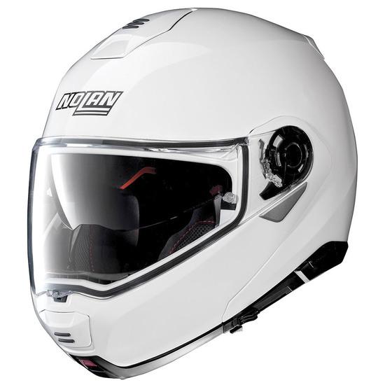 Casco NOLAN N100-5 Classic N-Com Metal White
