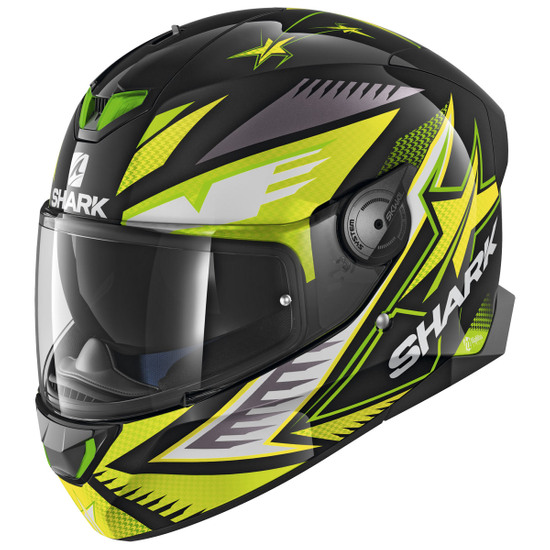 Helm SHARK Skwal 2 Draghal Black / Green / Yellow