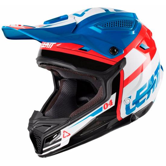 LEATT GPX 4.5 2018 V25 Blue / White Helmet