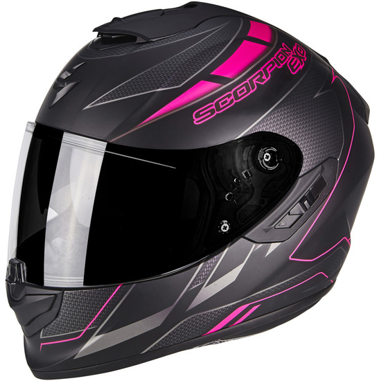Casco SCORPION Exo-1400 Air Cup Matt Black / Chameleon / Pink