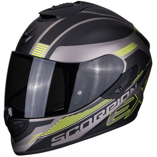 Casco SCORPION Exo-1400 Air Free Matt Titanium / Black / Neon Yellow