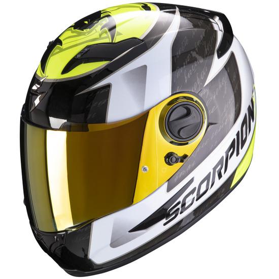 Helm SCORPION Exo-490 Tour White / Yellow Fluo