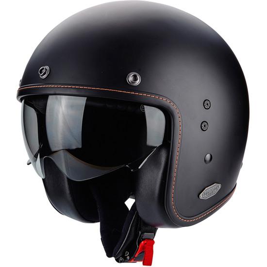 Motorcycle helmets BELFAST LUXE Black Mattt Scorpion