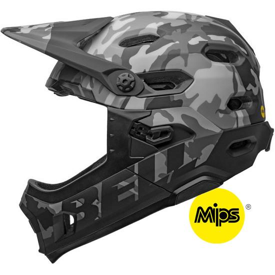 Casco BELL Super DH MIPS Matte - Gloss Black  Camo