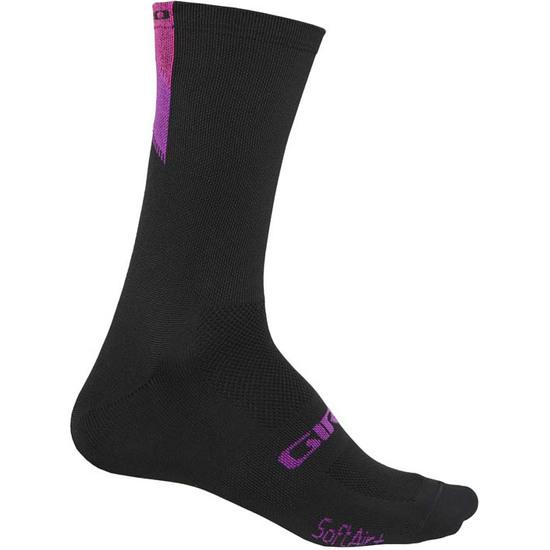 GIRO Comp Racer High Rise Bright Pink / Black Socks