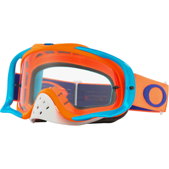 Maschera / Occhiali OAKLEY Crowbar MX Flo Orange / Blue