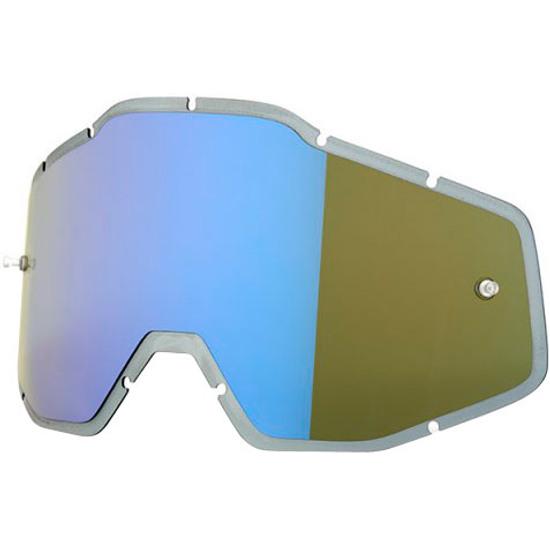 100% Injected Anti-Fog Hiper Blue Mirror Mask / Goggle