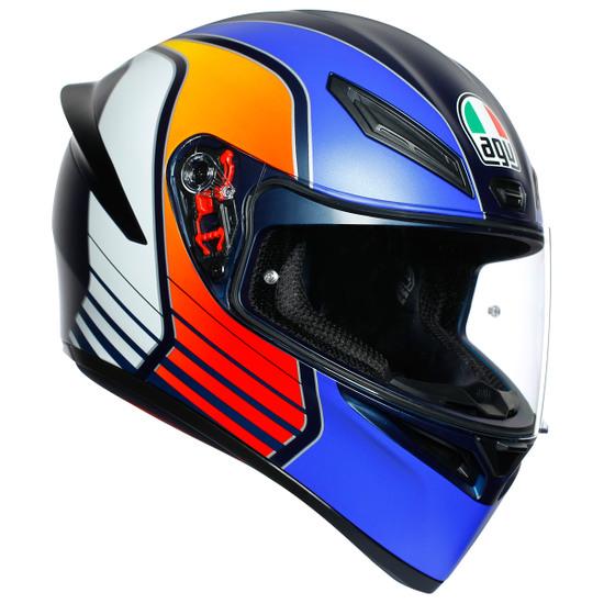 Casco AGV K-1 Power Matt Dark Blue / Orange / White