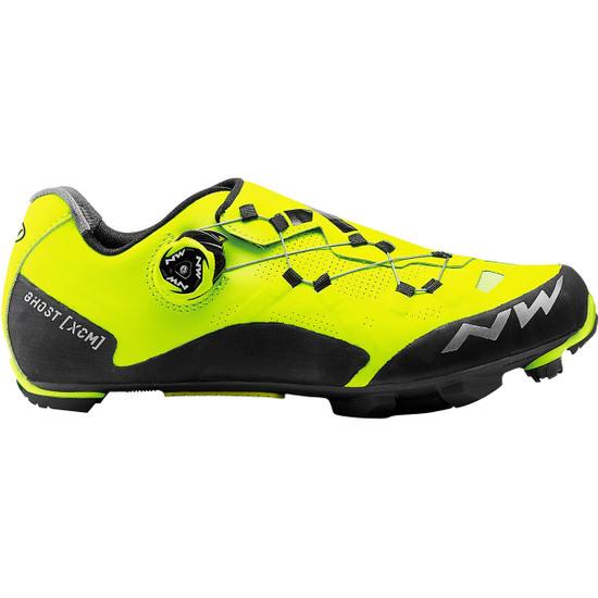 NORTHWAVE Ghost XCM Yellow Fluo / Black Shoe