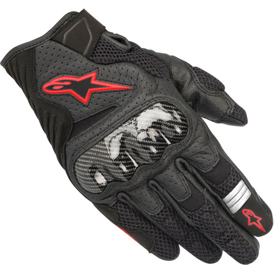 Guanto ALPINESTARS SMX-1 Air V2 Black / Red Fluo