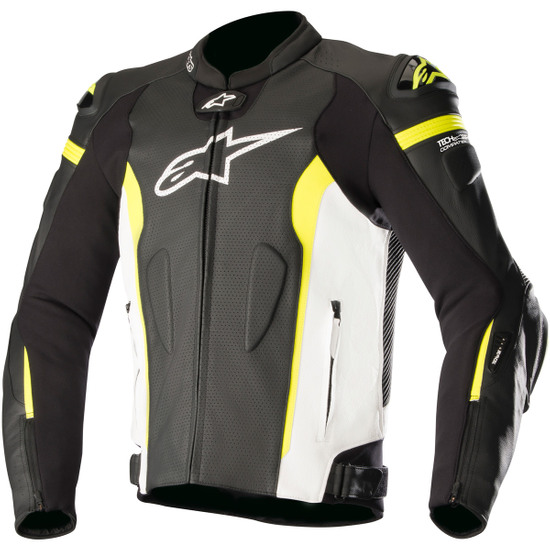 Jacke ALPINESTARS Missile for Tech-Air Black / White / Yellow Fluo Air