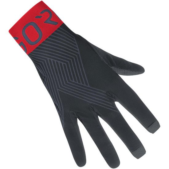 GORE C7 Pro Black / Red Gloves
