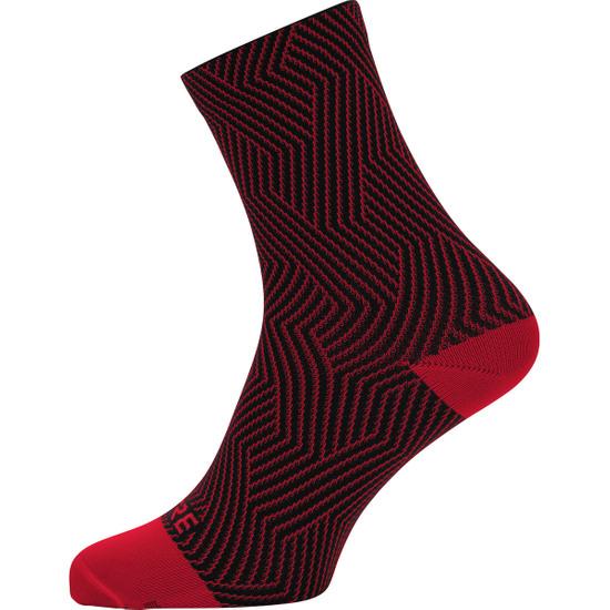 Calza GORE C3 Optiline Mid Red / Black