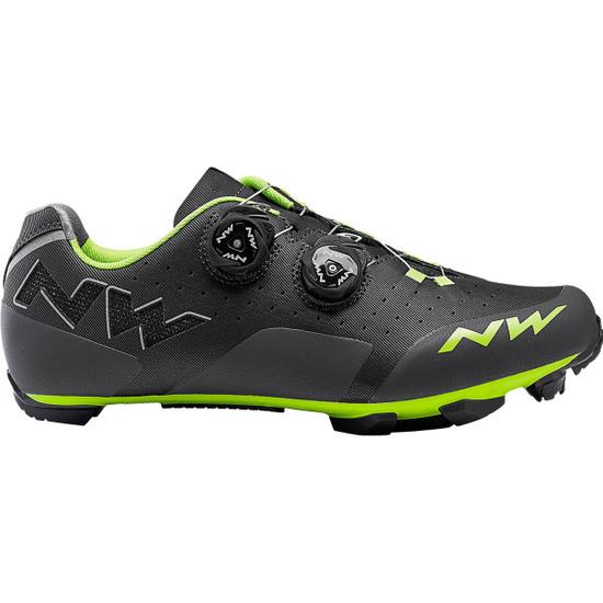 NORTHWAVE Rebel Anthracite / Acid Green Shoe