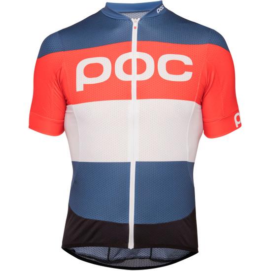 Maglia POC Essential Road Logo 2018 Prismane Multi Red