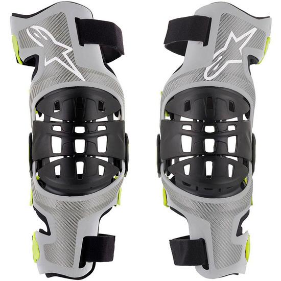 Proteccion ALPINESTARS Bionic-7  Silver / Yellow Fluo