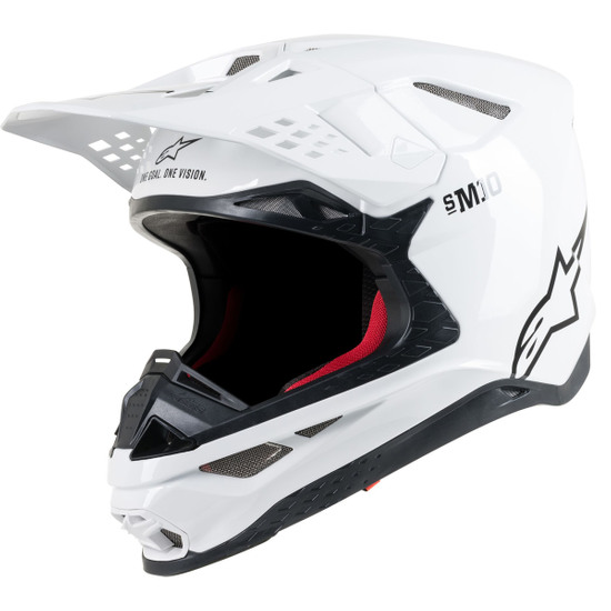 Casco ALPINESTARS Supertech S-M10 Solid White Glossy