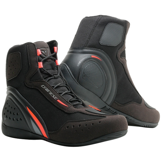 DAINESE Motorshoe D1 Air Black / Fluo-Red / Anthracite Boots