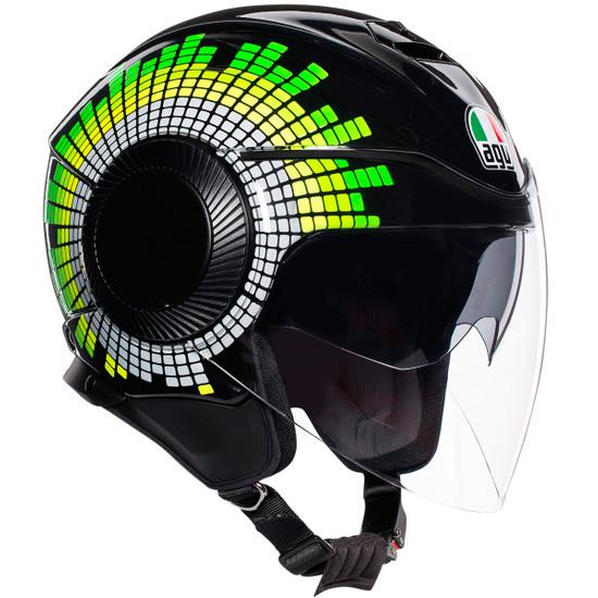 Casco AGV Orbyt Ginza Black / Yellow / Green