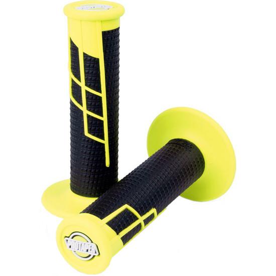 PRO TAPER Clamp-On Grip Half Waffle Neon Yellow / Black Grip