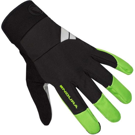 ENDURA Windchill Hi-Viz Green Gloves
