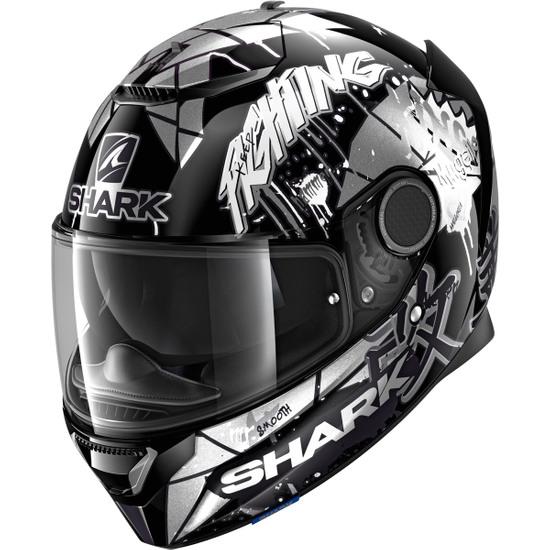 Casco SHARK Spartan 1.2 Replica Lorenzo Catalunya GP 2018 Black / White / Glitter