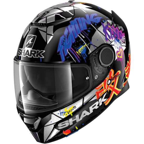 Casco SHARK Spartan 1.2 Replica Lorenzo Catalunya GP 2018 Black / Red / Glitter