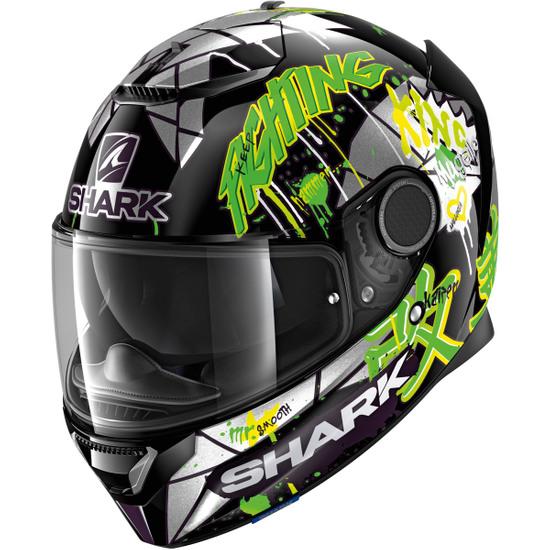 Casco SHARK Spartan 1.2 Replica Lorenzo Catalunya GP 2018 Black / Green / Glitter