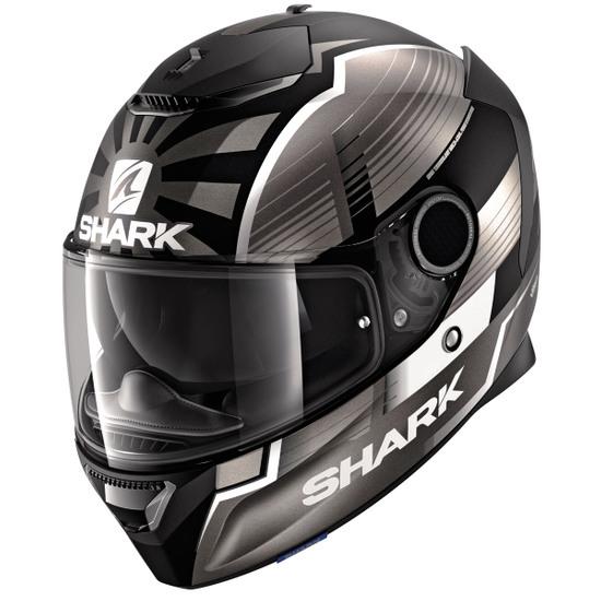 Casco SHARK Spartan 1.2 Replica Zarco Malaysian GP Mat Black / Anthracite / Silver