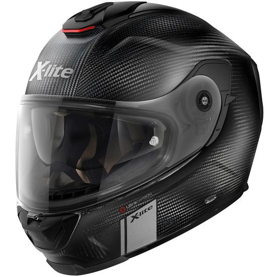 Helm X-LITE X-903 Ultra Carbon Modern Class N-Com Flat Carbon Double D-Ring